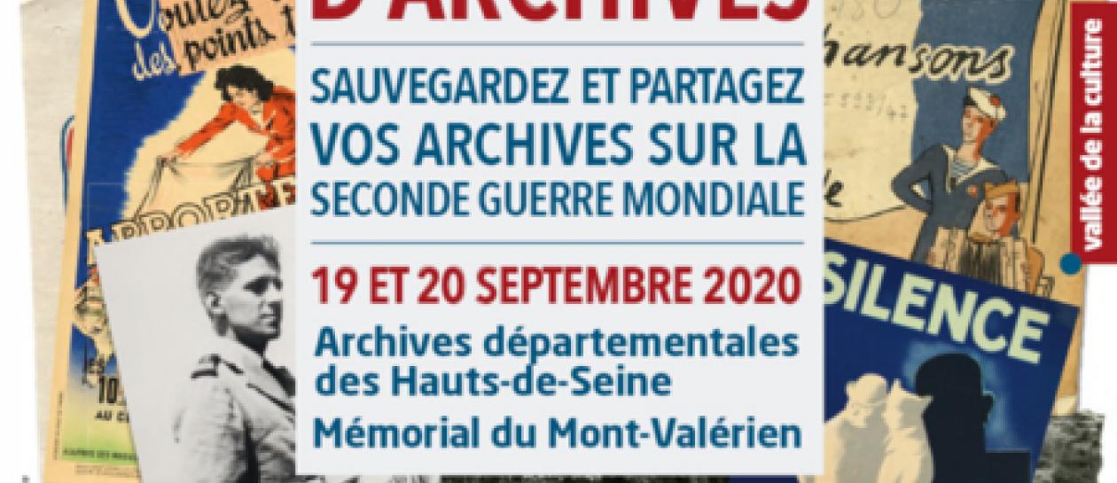 Appel à la collecte d'archives liées à la Seconde Guerre mondiale