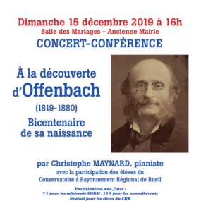 Concert The bicentenary of the birth of Offenbach